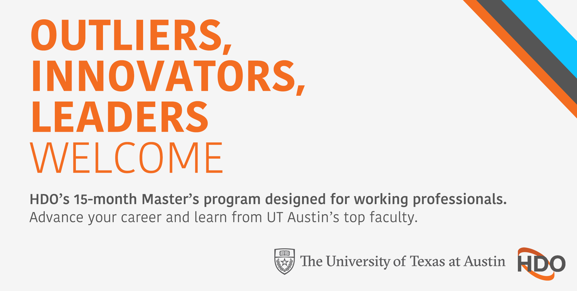 UT Austin's 15-month Master's Degree designed for working professionals. An innovative graduate program offered by The University of Texas at Austin.